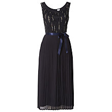 Buy Raishma Off Shoulder Pleated Mini Dress, Charcoal Online at johnlewis.com