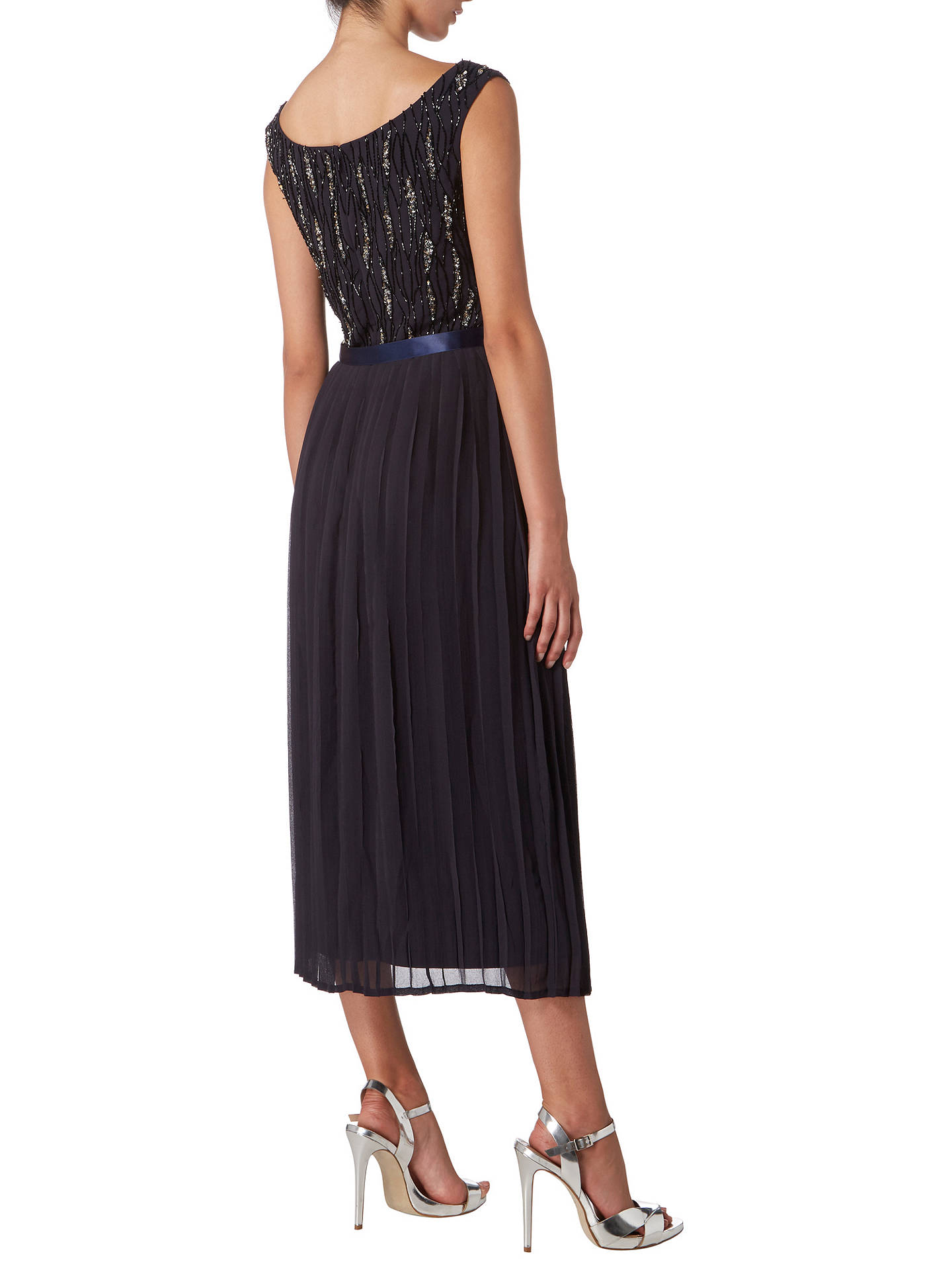 Buy Raishma Off Shoulder Pleated Mini Dress, Charcoal, 8 Online at johnlewis.com