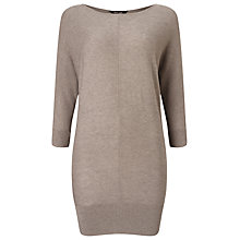 Buy Phase Eight Carmelina Batwing Knitted Tunic Top, Mushroom Online at johnlewis.com