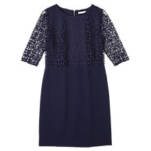 Buy Precis Petite Jeff Banks Floating Lace Dress, Navy Online at johnlewis.com