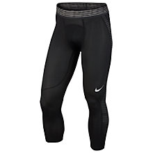 Buy Nike Pro Hypercool Training Tights, Black/White Online at johnlewis.com