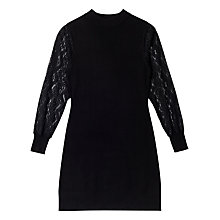 Buy Precis Petite Alyssa Knit Lace Sleeveless Dress, Black Online at johnlewis.com