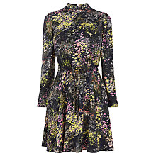 Buy Warehouse Pattern Wild Meadow Skater Dress, Blue Online at johnlewis.com