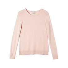 Buy Precis Petite by Jeff Banks Textured Jumper, Light Pink Online at johnlewis.com