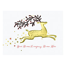 Buy CCA Personalised 'Dashing Through The Sky' Charity Christmas Cards Online at johnlewis.com