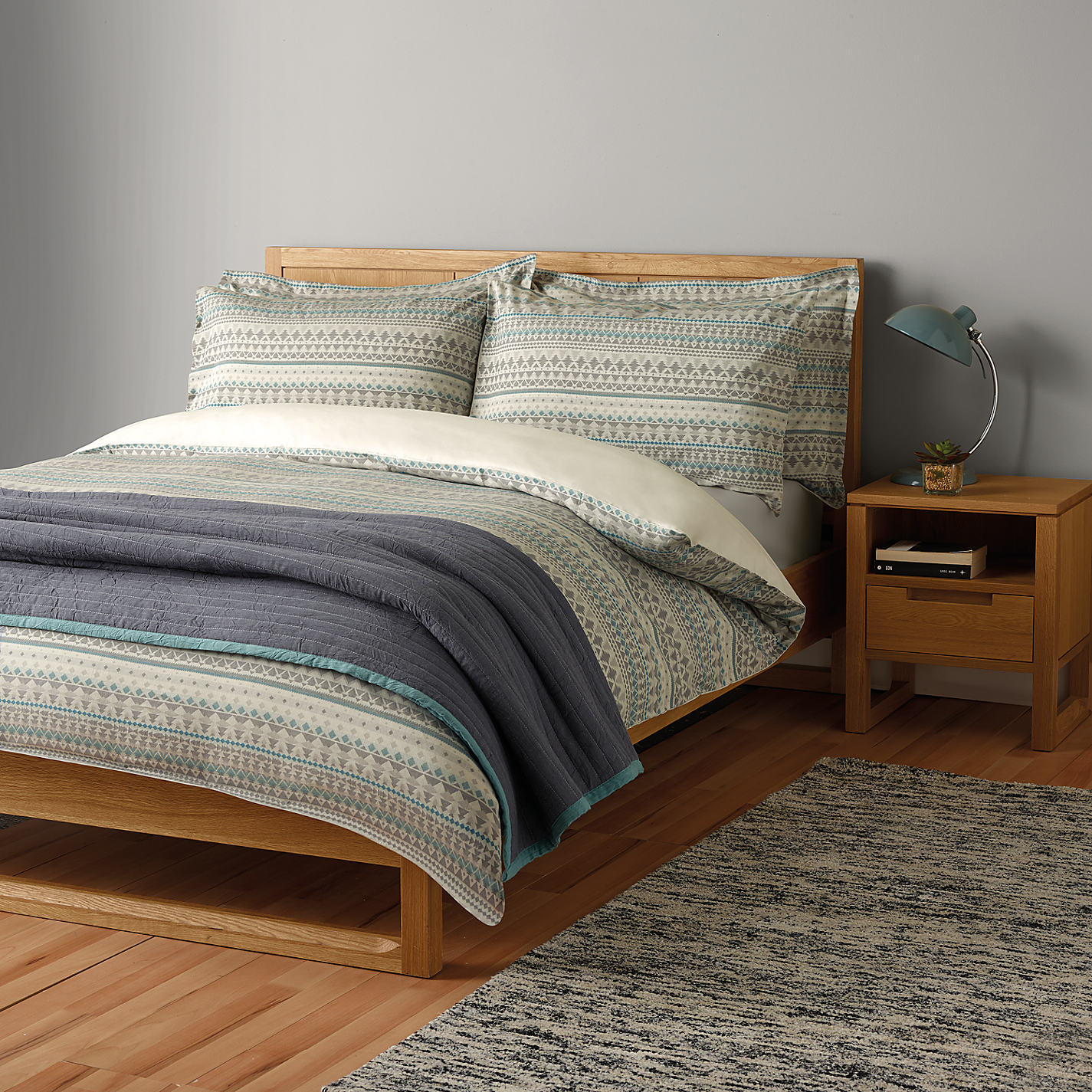 John Lewis Scandi Jacquard Cotton Bedding Online At Johnlewis