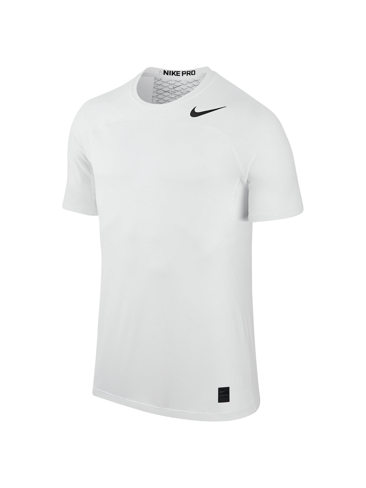 cdf440d2 Buy Nike Pro Hypercool Training Top, White, S Online at johnlewis.com ...