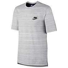 Buy Nike Sportswear Advance 15 Training T-Shirt, White/Black Online at johnlewis.com