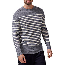 Buy Selected Homme Hunter Crew Neck Jumper, Total Eclipse Online at johnlewis.com