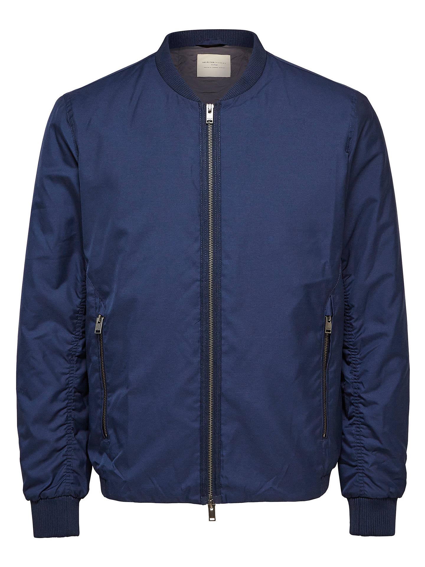 2c84f07d Selected Homme Classic Bomber Jacket, Dark Blue Melange at John ...