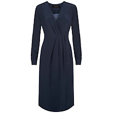 Buy Jaeger Tailored Wrap Dress, Midnight Online at johnlewis.com