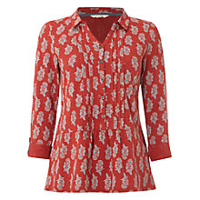 Buy White Stuff Frozen Lake Shirt, Carmine Orange Online at johnlewis.com