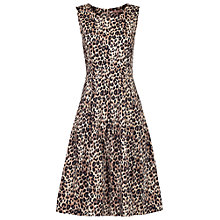 Buy Jolie Moi Leopard Print 50s Dress, Leopard Brown Online at johnlewis.com