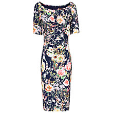 Buy Jolie Moi Floral Half Sleeve Shift Dress, Navy Online at johnlewis.com