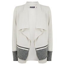 Buy Mint Velvet Double Layer Fluffy Hem Cardigan, Neutral Online at johnlewis.com