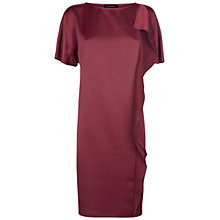 Buy Jaeger Cascade Drape Dress, Winter Berry Online at johnlewis.com