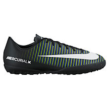 Buy Nike Children's Laced Mercurial Sports Shoes, Black/Multi Online at johnlewis.com