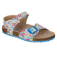 Buy John Lewis Children's Ditsy Footbed Sandals, Multi Online at johnlewis.com