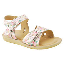 Buy Start-rite Children's Soft Harper Floral Sandals, White Online at johnlewis.com