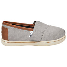 Buy TOMS Children's Alpagartas Casual Shoes, Chambray Grey Online at johnlewis.com