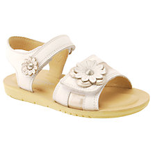 Buy Start-rite Children's Soft Clara Rip-Tape Sandals, White Online at johnlewis.com