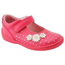 Buy Start-rite Children's Super Soft Daisy Rip-Tape Shoes, Bright Pink Online at johnlewis.com