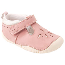 Buy Start-rite Baby Polly Rip-Tape Leather Pre Walker Shoes, Pink Online at johnlewis.com