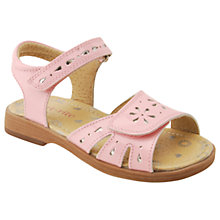 Buy Start-rite Children's Honeysuckle Rip-Tape Sandals, Pale pink Online at johnlewis.com