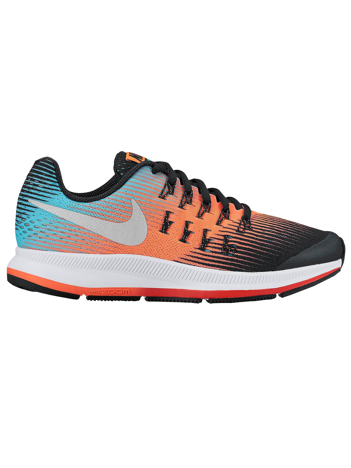 timeless design 3e16b 19acc Buy Nike Children s Air Zoom Pegasus 33 Running Shoes, Black Orange, 3  Online ...