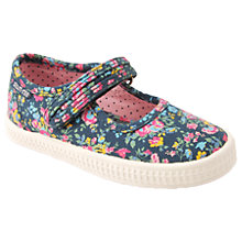 Buy Start-rite Children's Posy Rip-Tape Floral Print Canvas Shoes, Navy Online at johnlewis.com