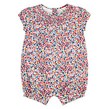 Buy John Lewis Heirloom Collection Baby Ditsy Romper, Pink/Multi Online at johnlewis.com