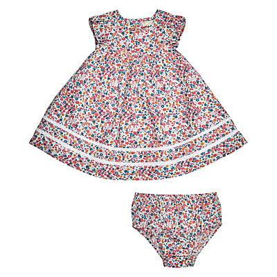 Vintage Style Children's Clothing: Girls, Boys, Baby, Toddler John Lewis Heirloom Collection Baby Ditsy Dress and Knickers Set PinkMulti £31.00 AT vintagedancer.com