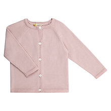 Buy John Lewis Heirloom Collection Baby Knit Cardigan, Lilac Online at johnlewis.com