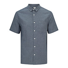 Buy Kin by John Lewis Plain Chambray Short Sleeve Shirt, Blue Online at johnlewis.com