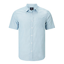 Buy John Lewis Smarter Fine Stripe Short Sleeve Shirt, Blue Online at johnlewis.com