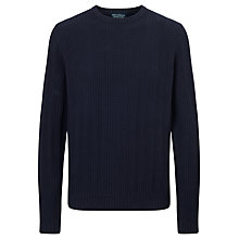 Buy JOHN LEWIS & Co. Multi Stitch Cotton Crew Neck Jumper, Blue Online at johnlewis.com