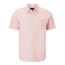 Buy John Lewis Smarter Fine Stripe Short Sleeve Shirt, Pink Online at johnlewis.com