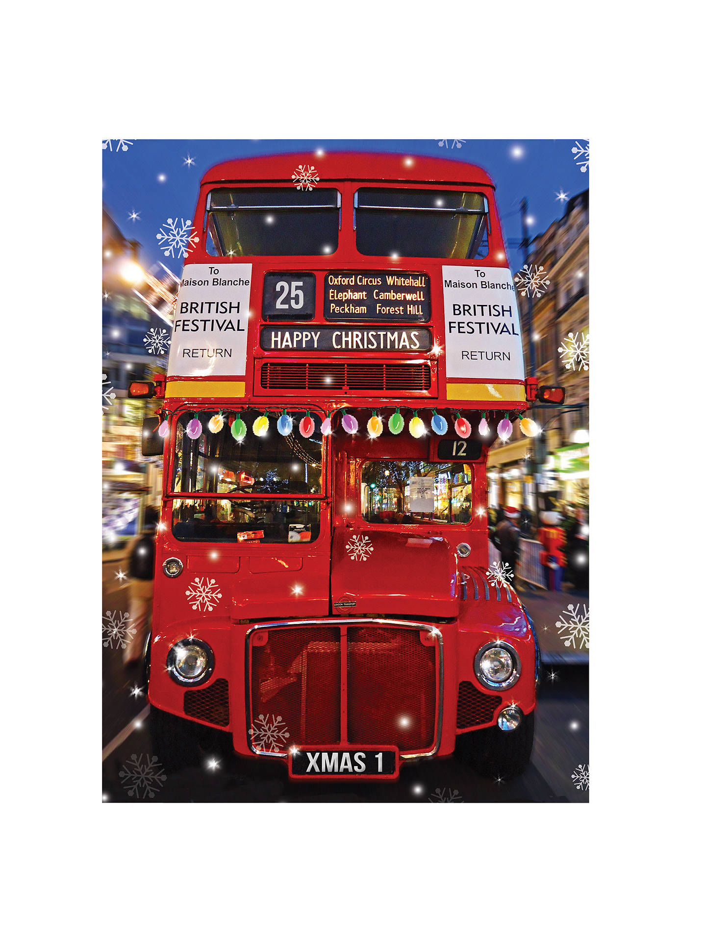 buycca personalised christmas special charity christmas cards pack of 100 online at johnlewis - Personalized Christmas Cards No Photo
