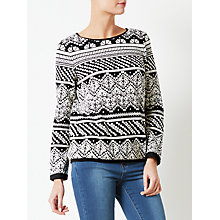 Buy Collection WEEKEND by John Lewis Jersey Sweat Top, Black/Ivory Online at johnlewis.com