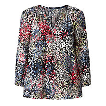 Buy Collection WEEKEND by John Lewis Confetti Print Top, Black/Multi Online at johnlewis.com