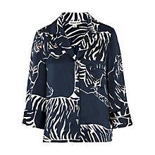 Buy Whistles Silk Tiger Print Top, Blue/Multi Online at johnlewis.com
