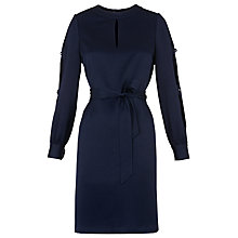 Buy Whistles Robyn Open Arm Dress, Navy Online at johnlewis.com