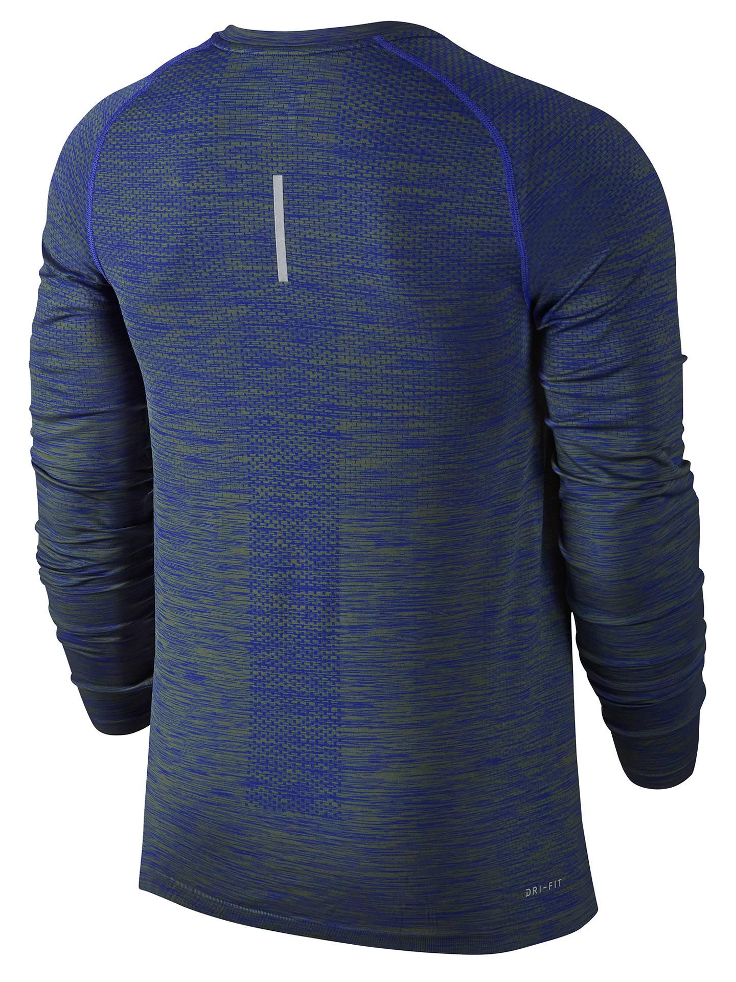 df29aa49 ... Buy Nike Dri-FIT Knit Long Sleeve Running Top, Paramount Blue/Palm Green