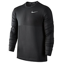 Buy Nike Zonal Cooling Relay Long Sleeve Running Top, Grey Online at johnlewis.com