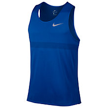 Buy Nike Zonal Cooling Relay Running Tank, Blue/Silver Online at johnlewis.com