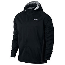 Buy Nike Shield Men's Running Jacket, Black/Silver Online at johnlewis.com