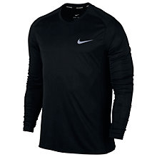 Buy Nike Dry Miler Running Long Sleeve Top, Black Online at johnlewis.com