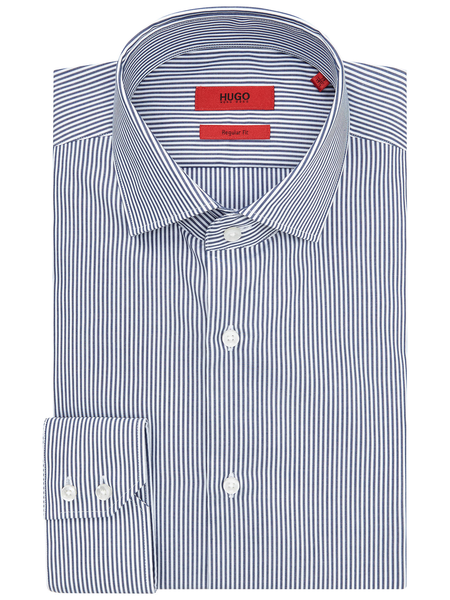 5e6df14a4 Buy HUGO by Hugo Boss C-Gordon Easy Iron Cotton Stripe Shirt, Navy, ...