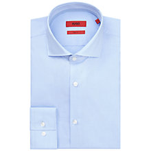 Buy HUGO by Hugo Boss C-Jerry Micro Check Slim Fit Shirt, Light Blue Online at johnlewis.com