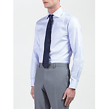 Buy Daniel Hechter Nailhead Check Tailored Fit Shirt, Blue Online at johnlewis.com